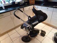 Quinny Buzz single stroller/pram, black, good con
