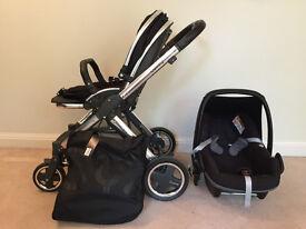 Oyster 2 pram and Maxi Cosi pebble car seat