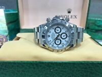 BrandNew Rolex Daytona Whiteface Automatic sweeping movement