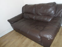 SOFA TWO SEATER CHOCOLATE BROWN GOOD CONDITION DELIVER MANCHESTER COLLECT NEAR TRAFFORD CENTRE