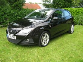 2009 Seat Ibiza 1.4 Sport 84 Petrol Black 3 Door Clean Car For Year.