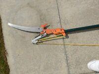 Tree lopper trimmer extending pole lopper