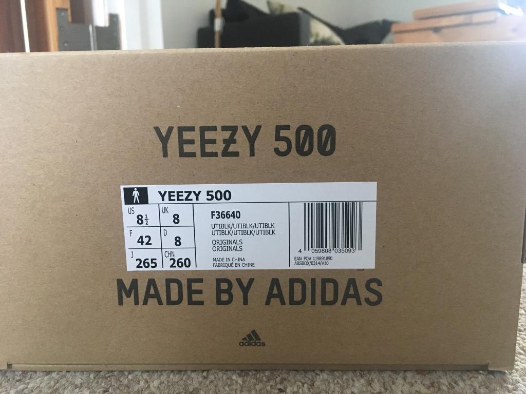 f7adb8b72af Adidas Yeezy Boost 500 Black size 8