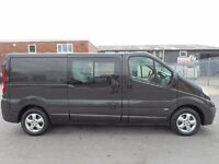 FINANCE ME!! NO VAT!! Stunning Vauxhall Vivaro sportive 6 seat crew van with only 95k from new...