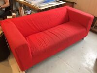 Red Ikea Sofa - free to collect