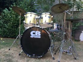 Beginners CB Drum Kit With Hardware and Extra Cymbals - Plus Cheaper Option