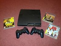 ps3 160gb fully working with 2 controllers games and leads