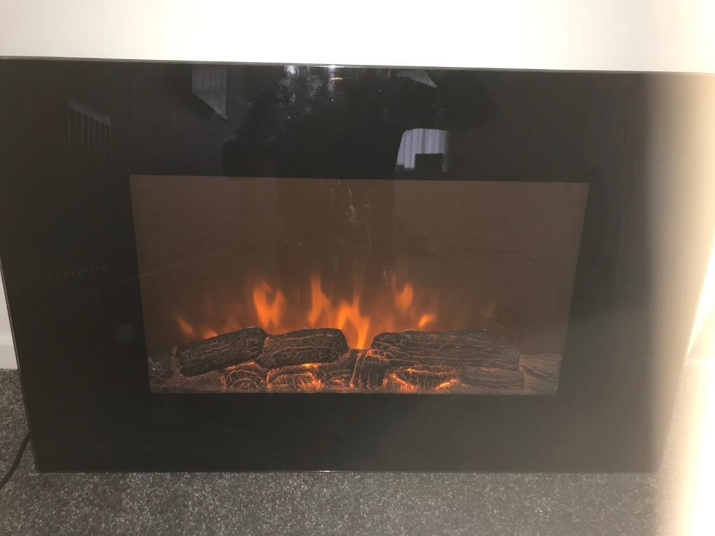 Electric Glass Wall Hung Fire