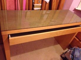 Ikea dressing table with glass top