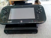 Nintendo wii u 32gb premium with mario kart 8 on console