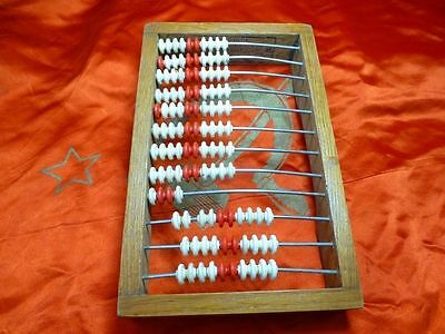 Vtg old USSR Counting Frame Wooden Abacus Beads Russian Shop Merchant 1970s EXC