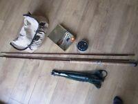 Vintage fishing equipment,