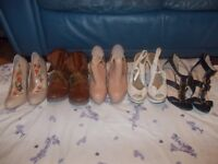 all women's shoes size 5 all £5.00 a pair