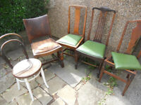 Chairs for Re-uphlostery or Upcycling - £8 each