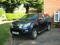 Isuzu D-Max Yukon Crew Cab. Recently serviced. Long Mot Colour Coded rear canopy