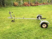 Galvanised two wheel boat trailer