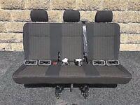 Vw T5 T5.1 T6 Rear Triple Seat In Pandu Fabric