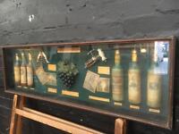 "Fabulous vintage ""World Of Wine"" wall hanging display"
