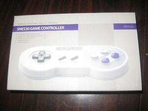 SNES 30 Bluetooth Gamepad Wireless Remote Controller for Samsung Galaxy S8 / S7 / S6 Smart Phone / PC / MacBook / iMac.