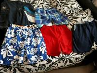 AGE 13/14 YEARS SELECTION OF BOYS SWIM SHORTS + FLEECE JOG SHORTS