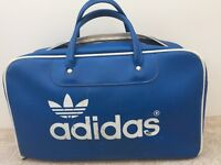 Vintage ADIDAS (Peter Black) Retro Blue Sports Bag from the early 1970s.
