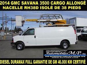 2014 GMC Savana 3500 NACELLE RH38D ISOLÉ  DIESEL DURAMAX