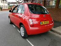 2010 Nissan Micra Visia 1.2 Petrol - 1 Year MOT - Drives Good - 5 Door - Economical Car