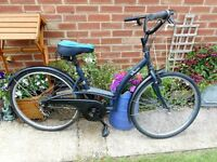 ladies BTWIN elopes city bike with lock