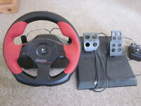 Logitech 'Wingman Formula Force GP' feedback steering wheel