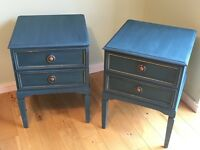 Upcycled pair of bedside drawers