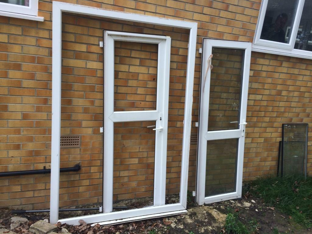 2 door frames and outer pvc plastic