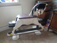 Viintage solid wood rocking horse