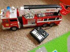 Remote control large fire engine