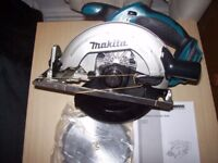 "MAKITA 18V LXT CIRCULAR SAW ""NEW"""