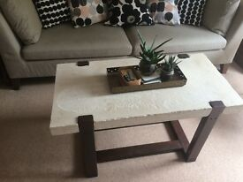 Snowcrete coffee table