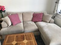 Lovely L shaped sofa and huge armchair from next
