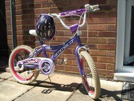 "AMMACO 18"" Girls Bike With FREE DUNLOP Cycle Helmet"