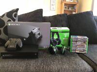 Xbox One X Bundle 13 Games Headset