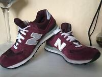 Burgundy New Balance trainers size 6