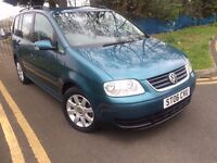 VW VOLKSWAGEN TOURAN 2.0 DIESEL 2006 AUTOMATIC 7 SEATER FULL HISTORY LONG MOT CLEAN CAR HPI CLEAR