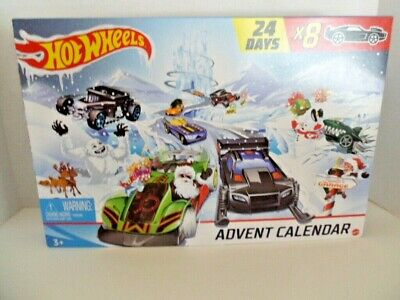 Hot Wheels Christmas Advent Calendar 24 Days Cars & Accessories New 8 Cars 2020