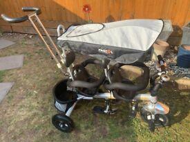 Kids 2-Seater push Trike