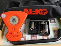 AL-KO Secure Caravan Wheel Lock Number 33. To fit Bailey Pursuit Caravan from 2014.