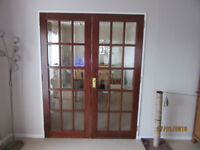Double Internal French doors, size 980cm x 76cm x 35mm