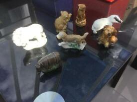 Wade animal figures 7 in total excellent condition hallmarked