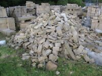 SANDSTONE CUTTINGS AVAILABLE BY THE TONNE