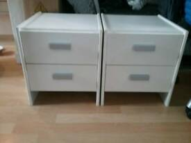 Small bedside cabinets (2)