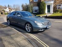 2007 MERCEDES CLS 320 CDI COUPE AUTOMATIC GREY FULL SERVICE HISTORY 12 MONTHS MOT 2 KEYS