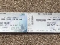 2x tickets for Hans Zimmer, Glasgow / 18th June