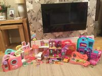 LARGE LITTLEST PET SHOP BUNDLE WITH ACCESSORIES ALL IN GOOD USED CLEAN CONDITION.